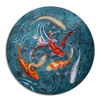 Avenida Home Graham Banister A Pond Of Koi Fish Placemat