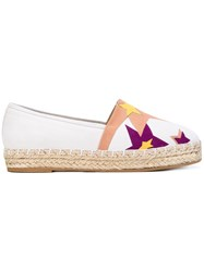 Elie Saab Star Patch Espadrilles Women Leather Suede Rubber 37 White