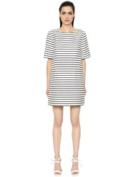 Max Mara 'S Striped Light Satin Cotton And Satin Dress