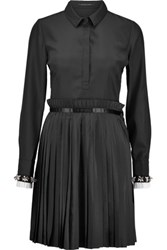 Mother Of Pearl Hurley Plisse Crepe De Chine Dress Black