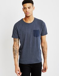 Selected New Indiana O Neck T Shirt Navy