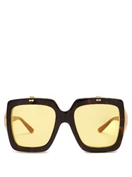 Gucci Oversized Square Frame Acetate Sunglasses