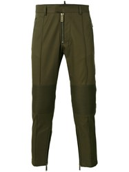 Dsquared2 Cropped Cargo Trousers Green
