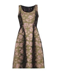 1 One Knee Length Dresses Military Green