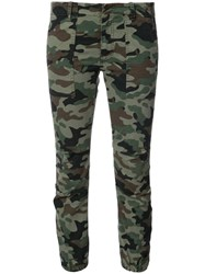 Nili Lotan Military Camouflage Cargo Pants Women Cotton Spandex Elastane 2 Green