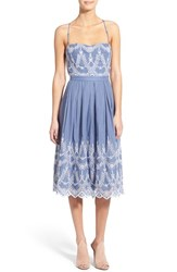 Women's Kendall Kylie Cotton Eyelet Halter Dress Tempest