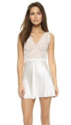Hanky Panky Lady Catherine Silk Chemise Light Ivory