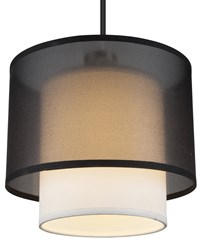 Lights Up Doubles Deco Pendant 9062Bn Bor Black Organza