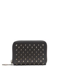 Christian Louboutin Panettone Spike Embellished Leather Coin Purse Black Multi