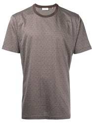 Cerruti 1881 Diamond Pattern T Shirt Men Cotton Xl Brown