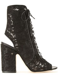Laurence Dacade Lace Sandals Black