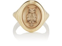 Retrouvai Grandfather Fantasy Signet Ring Gold
