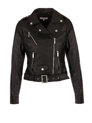Morgan Faux Leather Bike Style Jacket Black