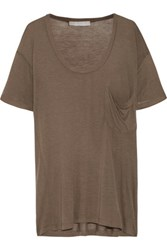 Kain Label Modal And Silk Blend T Shirt Mushroom