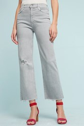 Anthropologie Mother Maverick Ultra High Rise Relaxed Boot Jeans Light Grey