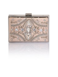 Chi Chi London Briony Clutch Bag Beige