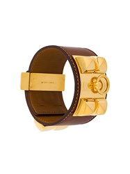Hermes Vintage Collier De Chien Bracelet Brown