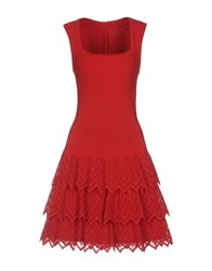 Alaia Short Dresses Red