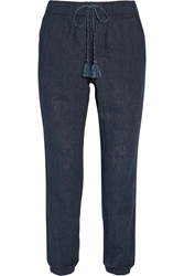 Madewell Tobago Linen Blend Tapered Pants