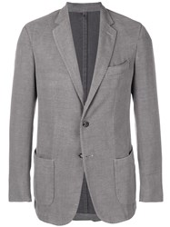 Dell'oglio Two Button Blazer Grey