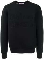 Maison Kitsune Embroidered Sweatshirt Black