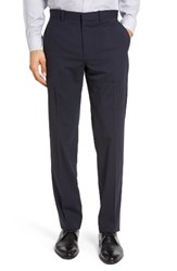 Theory Men's Marlo New Tailor 2 Flat Front Solid Stretch Wool Trousers Navy