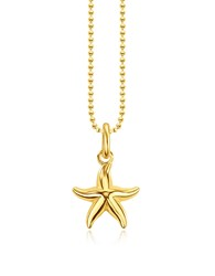 Thomas Sabo Necklaces Gold Plated Sterling Silver Starfish Pendant Necklace W White Zirconia
