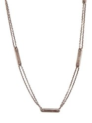 M Cohen Tag Chain Sterling Silver Necklace Silver