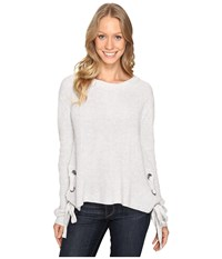 Fate Side Lace Up Sweater Grey Women's Sweater Gray