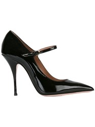 Red Valentino Buckled Pointed Pumps Black