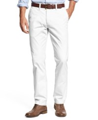 Tommy Hilfiger Men's Slim Fit Chino Pants Classic White