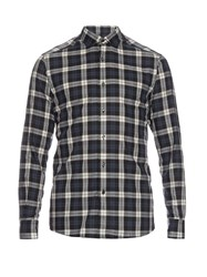 Ermenegildo Zegna Long Sleeved Checked Cotton Shirt