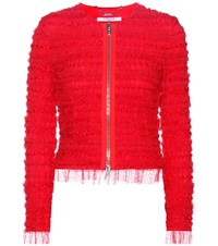 Givenchy Ruched Tulle Jacket Red