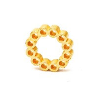 Heart And Noble Fanatic Matte Gold Steel Circle Ring8