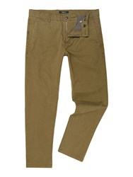 Replay Tapered Fit Stretch Twill Trousers Green