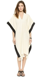 Lisa Marie Fernandez Beach Poncho Cream Black