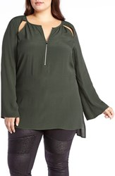 Addition Elle Love And Legend Plus Size Women's Bell Sleeve Tunic