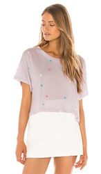 Wildfox Couture Multi Starlet Valley Tee In Lavender. Iris