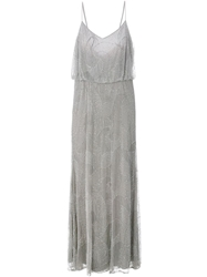 Armani Collezioni Embellished Evening Gown Grey