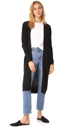 Bop Basics Cashmere Duster Sweater Coat Black