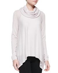 Alice Olivia Draped Cowl Neck Knit Top