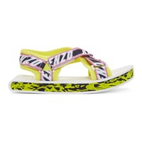 Kenzo Pink And Yellow Lynn Sandals