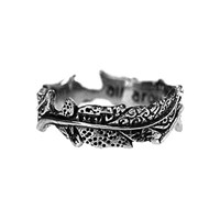House Of Alaia Fabrics Of Life Small Feather Ring Oxidized Sterling Silver