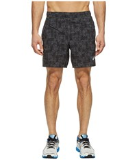 Asics 7 Woven Shorts Dark Grey Structured Geo Men's Shorts Gray