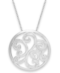 Giani Bernini Filigree Circle Pendant Necklace In Sterling Silver