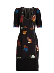 Marco De Vincenzo Squirrel Print Crepe Dress Black Print