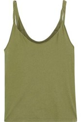Current Elliott Woman The Twisted Cotton Jersey Tank Leaf Green