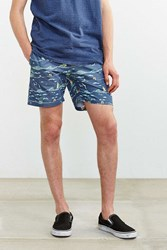Vanishing Elephant Sail Away Swim Short Blue