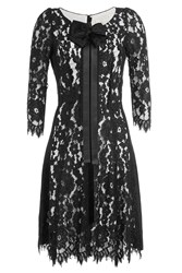 Marc Jacobs Lace Dress With Bow And Ribbon Black