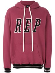 Represent Logo Hoodie Red
